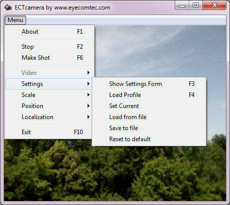 ECTcamera Screen shot