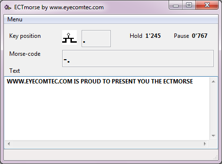 ECTmorse Screen shot