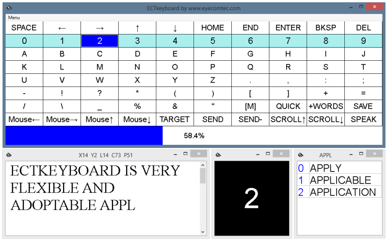 ECTkeyboard 74.381.23 Screen shot