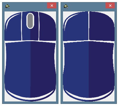 Various skins for computer mouse with or without a scrolling wheel