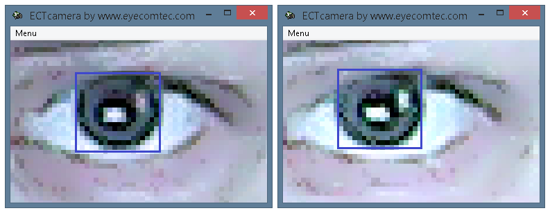Difference between colors of zoomed images