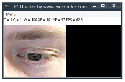Direction of user's gaze is changing depending on the location of the matrix of symbols on desktop