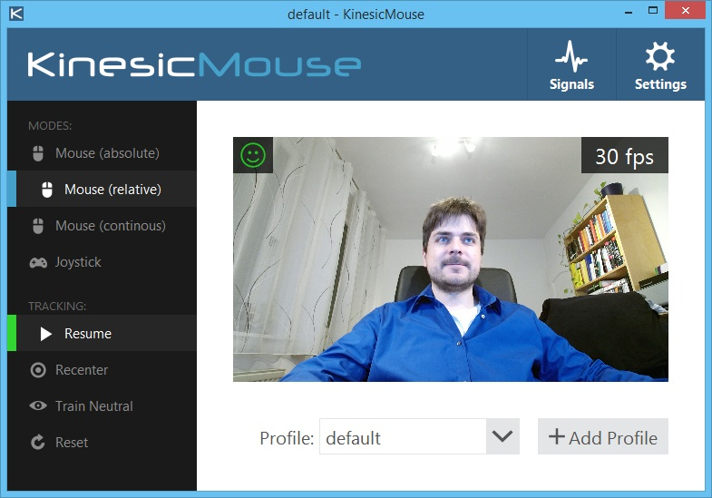 Kinesic Mouse Main Window