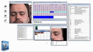Communicate (write texts) exclusively through eye movements (blinking) - ECTkeyboard+ECTtracker+ECTcamera